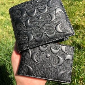 *** Compact Id Wallet In Signature Leather***